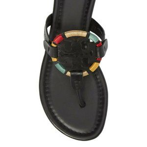 NEW IN BOX Tory Burch Embroidered Miller Sandals